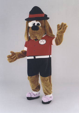 mascotte cane alpinista