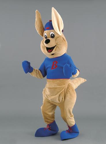 mascotte canguro sportivo