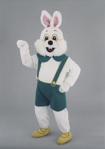 mascotte coniglio escursionista