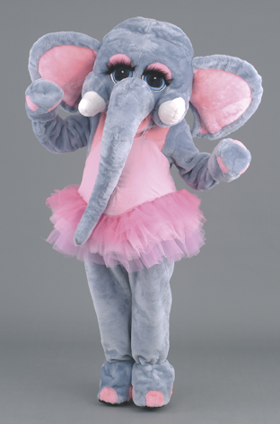 mascotte elefante ballerina