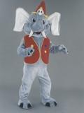 mascotte elefante clown