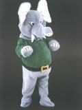 mascotte elefante verde