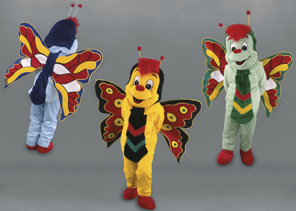 mascotte farfalle