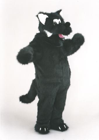 mascotte lupo nero