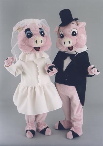mascotte maialini sposi