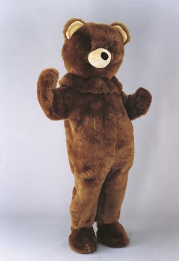 mascotte orso bruno
