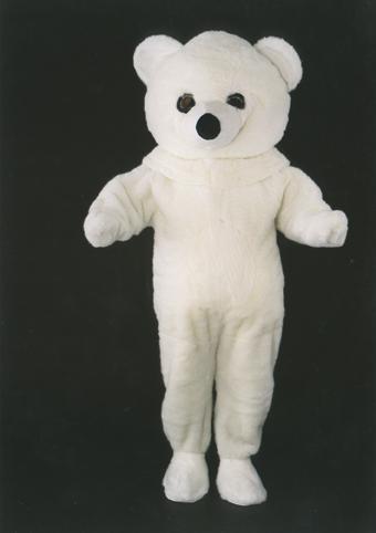 mascotte orso bianco