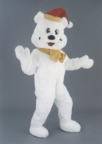 mascotte orso bianco natalizio