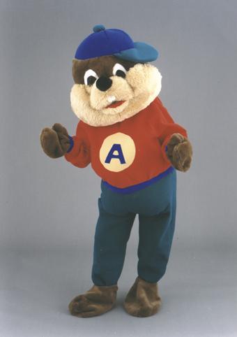 mascotte orso giocatore