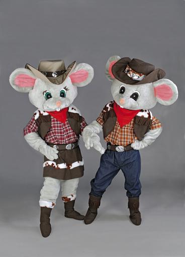 mascotte topolini cow boys