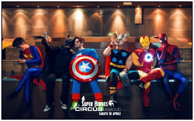 Supereroi per Circus Beat Club