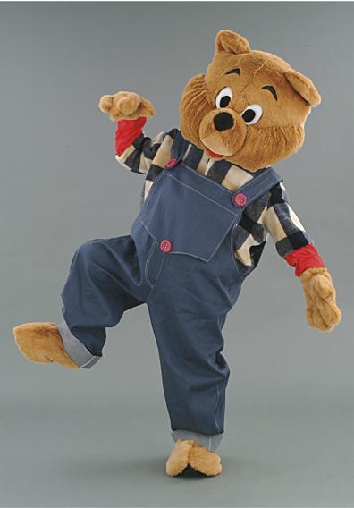 mascotte orso lavoratore