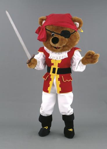 mascotte orso pirata