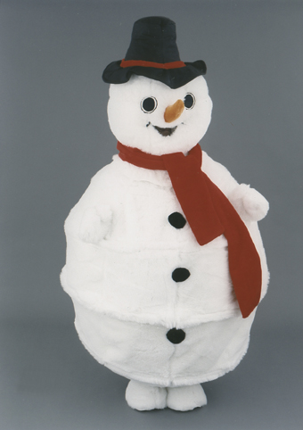 mascotte pupazzo di neve