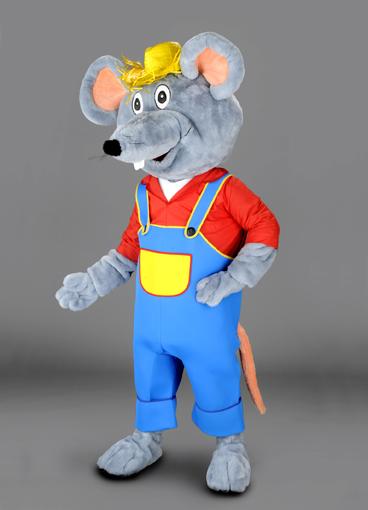 mascotte topo lavoratore
