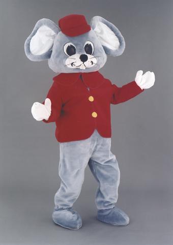 mascotte topolino rosso
