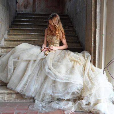 abito sposa pomposo