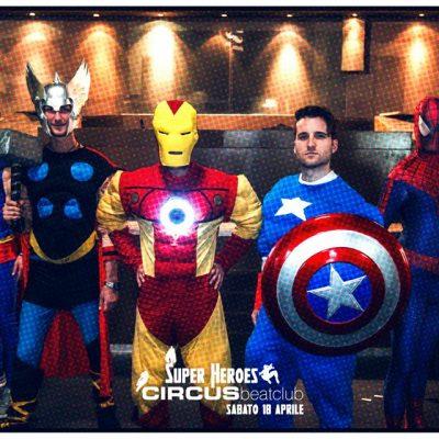 I Supereroi di Costumi Falpalà per il Circus Beat Club