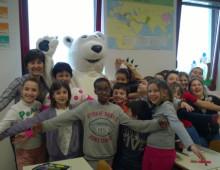 Mascotte Orso Polare per Siamo nati per camminare 2015