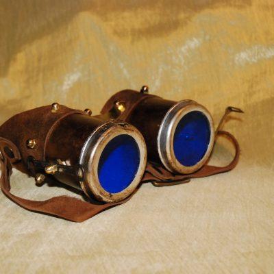 Occhiali stretti lente blu